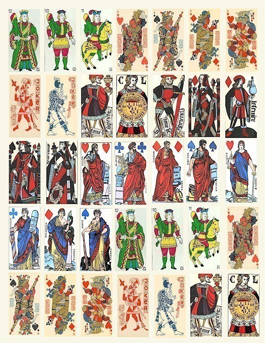 Tarot Cards clipart vintage Sheet download century sheet french