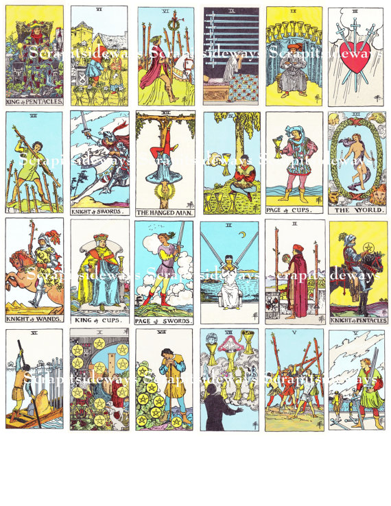 Tarot clipart deck card Digital Waite Cards Rider of