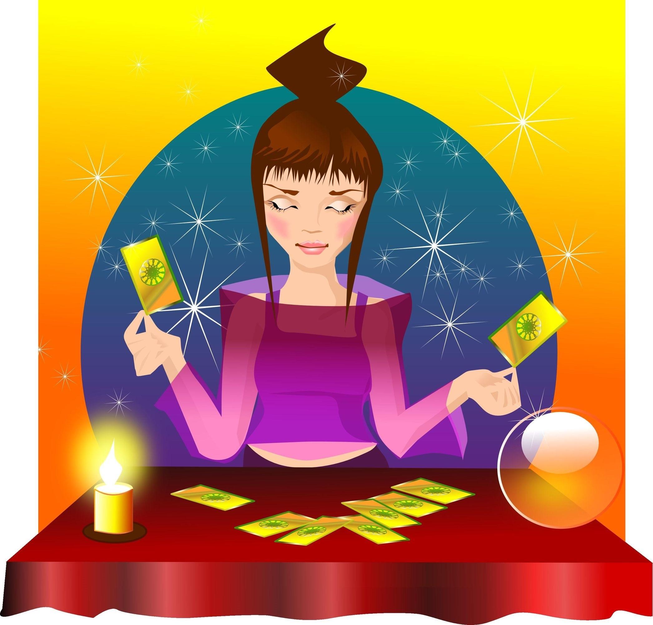Tarot clipart psychic Reader Tarot psychic card Will