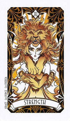 Tarotcards clipart strength The Tarot Leo cards and