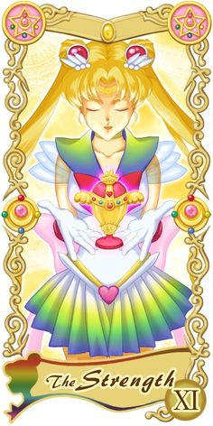 Tarotcards clipart strength Tarot card Sailor  moon