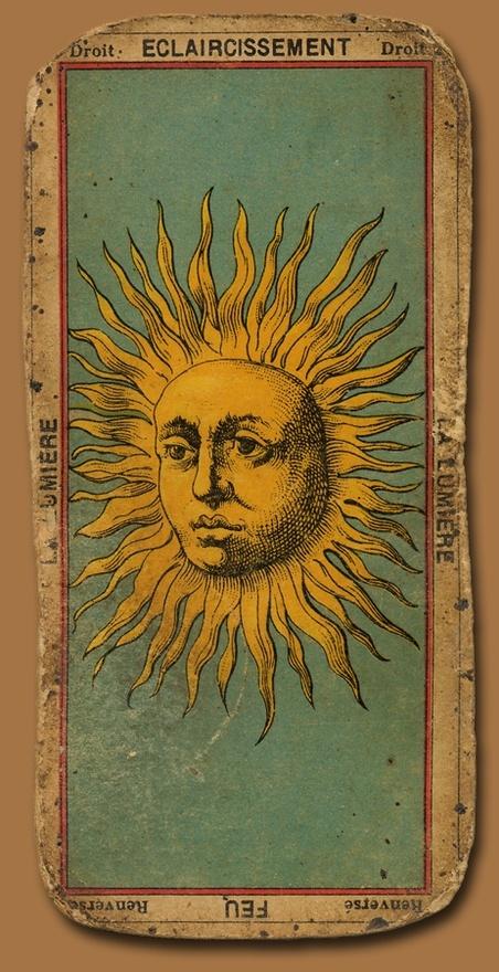 Tarotcards clipart sun and moon 192 Tarot: Sun Lumiere Tarot