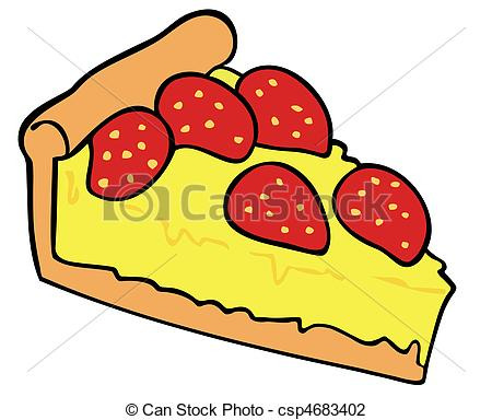 Tart clipart Custard  csp4683402 tart csp4683402