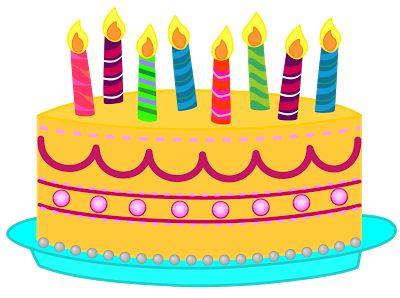 Simple clipart birthday cake #3