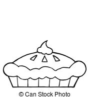 Pie clipart outline Illustrations Of Fresh Thanksgiving A