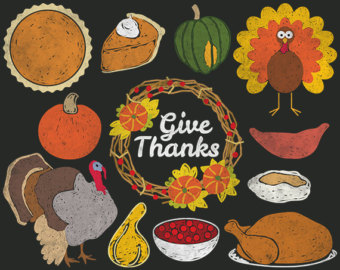 Pie clipart turkey food Etsy Pie pie Chalkboard Thanksgiving