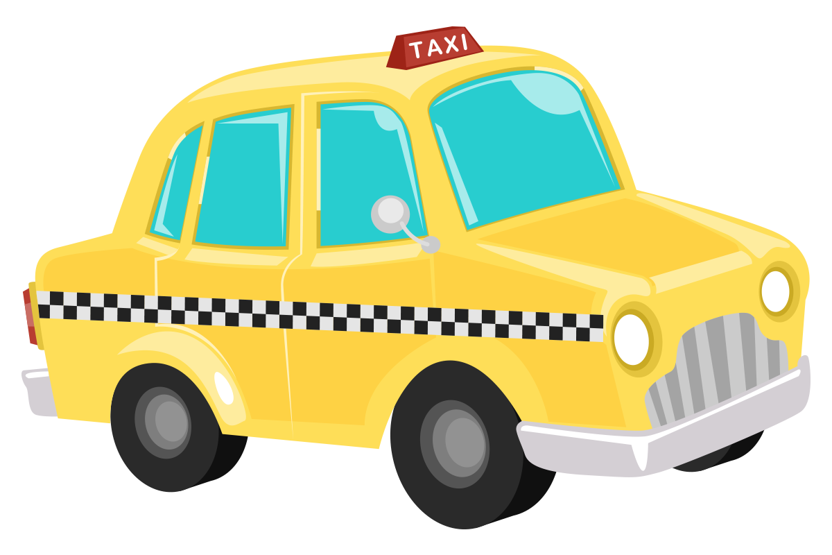 Taxi clipart simple Free Clip Use Domain Clip