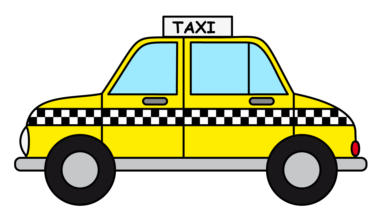 Taxi clipart simple Art Taxi to Public Cab