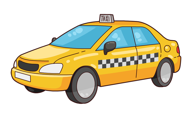 Taxi clipart vector Is art cab commercial clip