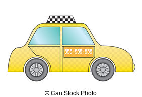 Taxi clipart cab Illustration yellow yellow New cab