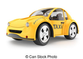 Taxi clipart cab And  rendering background Cab