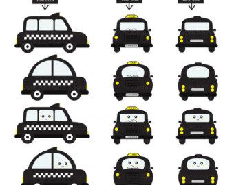 Taxi clipart london Clip Black London Clipart Kawaii
