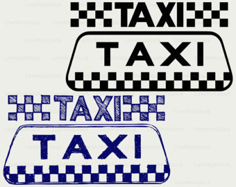 Taxi clipart mom Silhouette Etsy taxi Taxi taxi