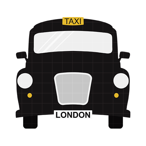 Taxi clipart silhouette Quarter Taxi Clipart cliparts London