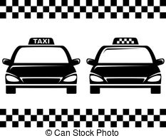 Taxi clipart silhouette 1 cars clipart  taxi