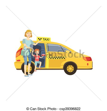 Taxi clipart simple Taxi On Mother Simple Colorful