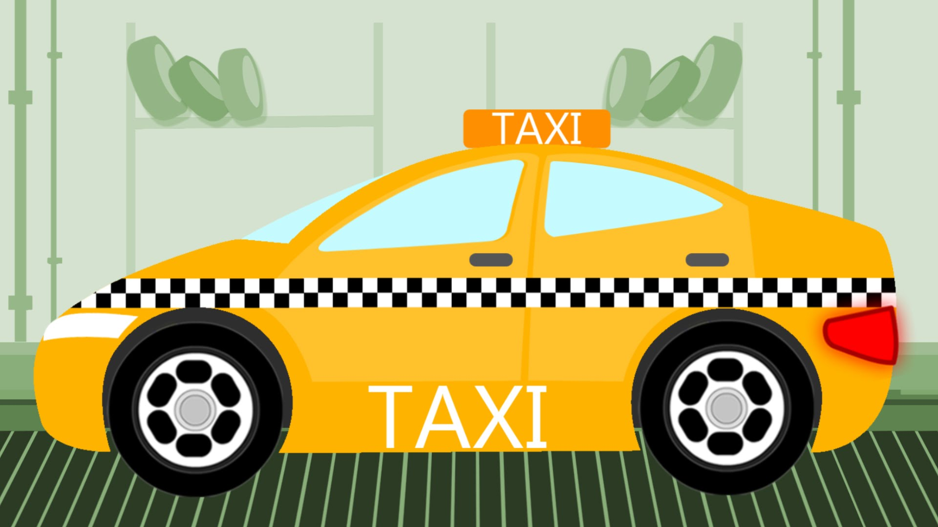 Yellow clipart toy car Toy Garage And Factory Taxi