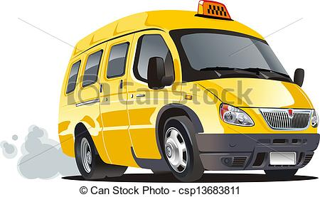 Taxi clipart van Taxi isolated Vector taxi of