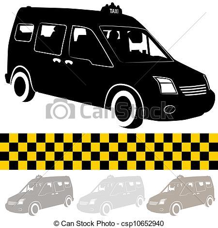 Taxi clipart van Van of csp10652940 An of