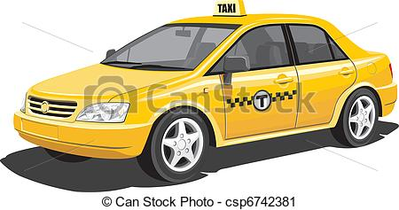 Taxi clipart vector Isolated of  taxi Vector