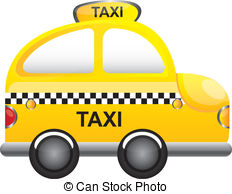 Taxi clipart vector Vector clipart cartoon Graphics EPS