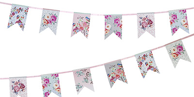 Bunting clipart afternoon tea Bunting Party Truly Fabric Banners
