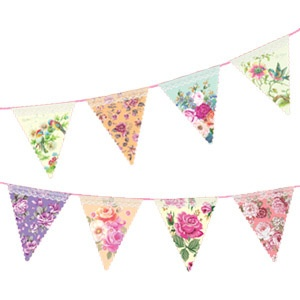 Bunting clipart afternoon tea Wonderland The Shabby bunting Wedding