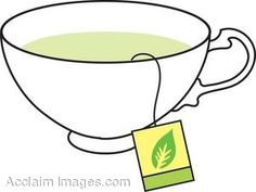 Teacup clipart green tea Of Image: a Art tea