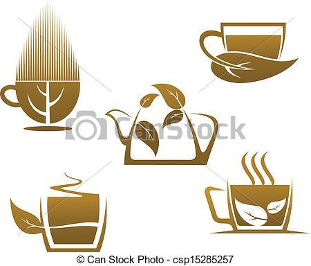 Teacup clipart herbal tea Herbal cups Vector tea Herbal