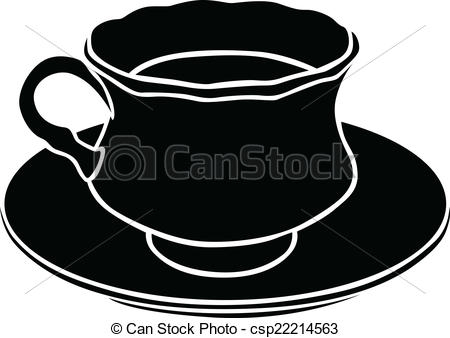 Teacup clipart silhouette Of of Art image a