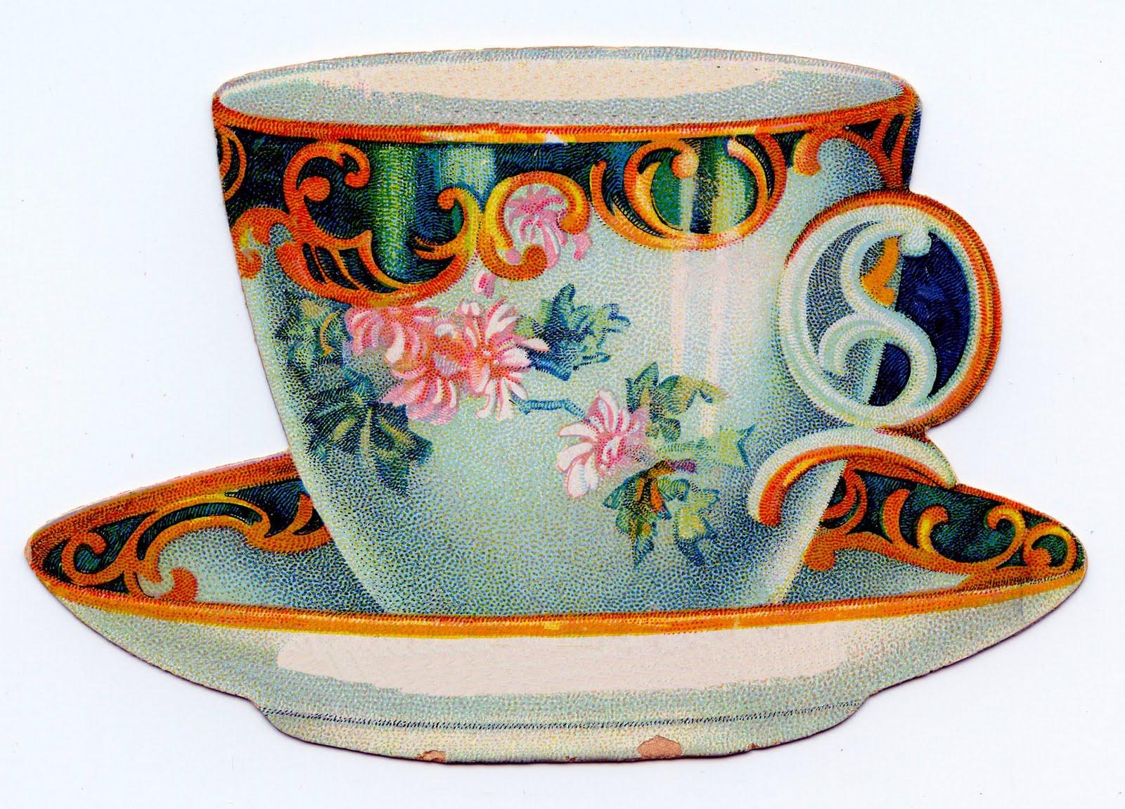 Teacup clipart vintage tea cup Cliparts Art Download Art Tea