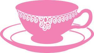 Pink clipart tea party Party art teacup Tea Clip