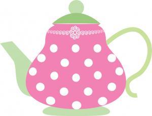 Tea Party clipart Party art clip Clip teapot