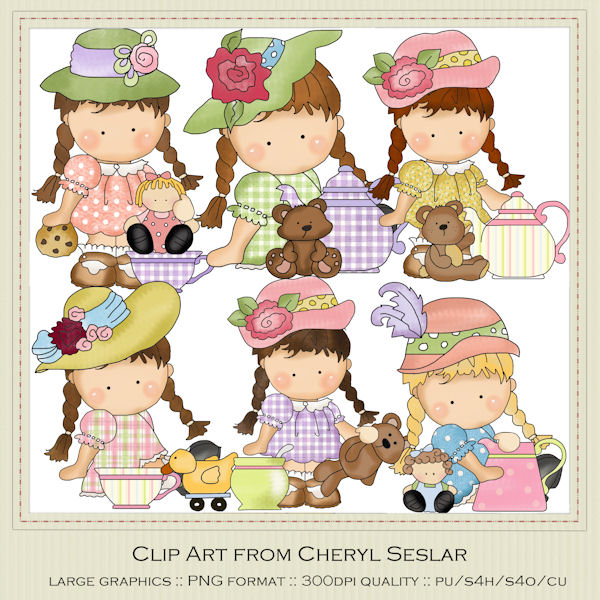 Tea Party clipart 50's #8