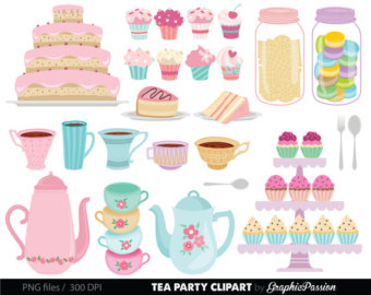 Tea Party clipart 50's #9