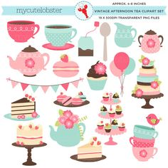 Tea Party clipart 50's #10