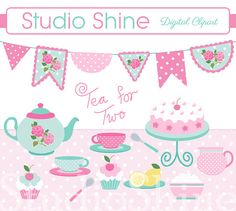 Tea Party clipart 50's #12