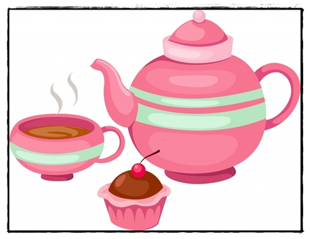 Tea Party clipart  Clipart clipart party Fall
