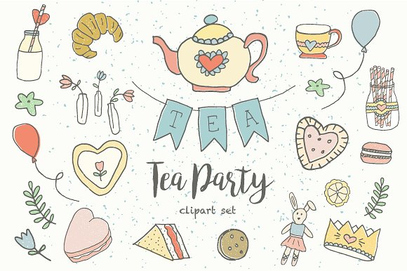 Tea Party clipart Creative Clip on Illustrations Illustrations