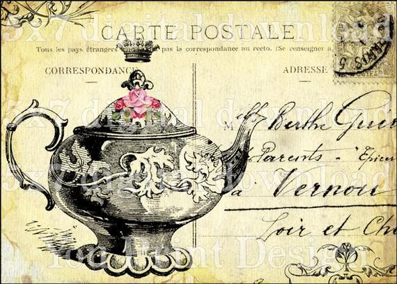 Tea Party clipart antique #5