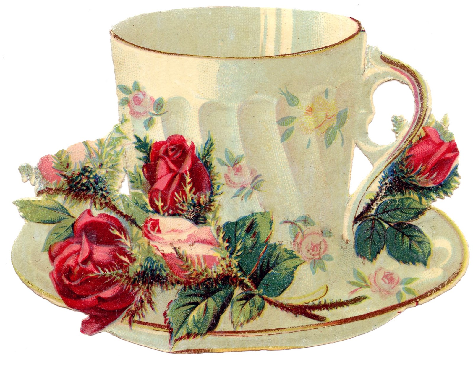 Tea Party clipart antique #6