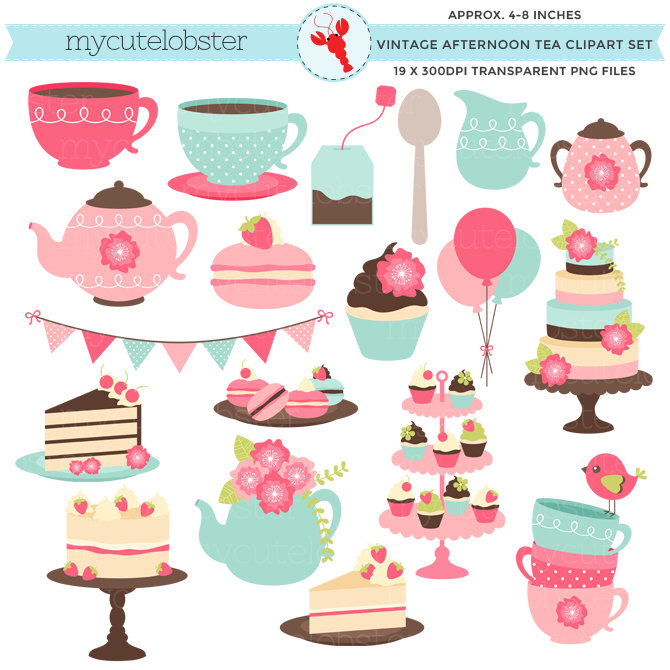 Teapot clipart cream tea Clipart Clipart by set ClipArtKiwi