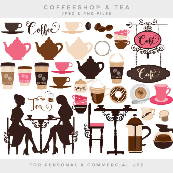 Tea Party clipart cafe  from tea latte cafe