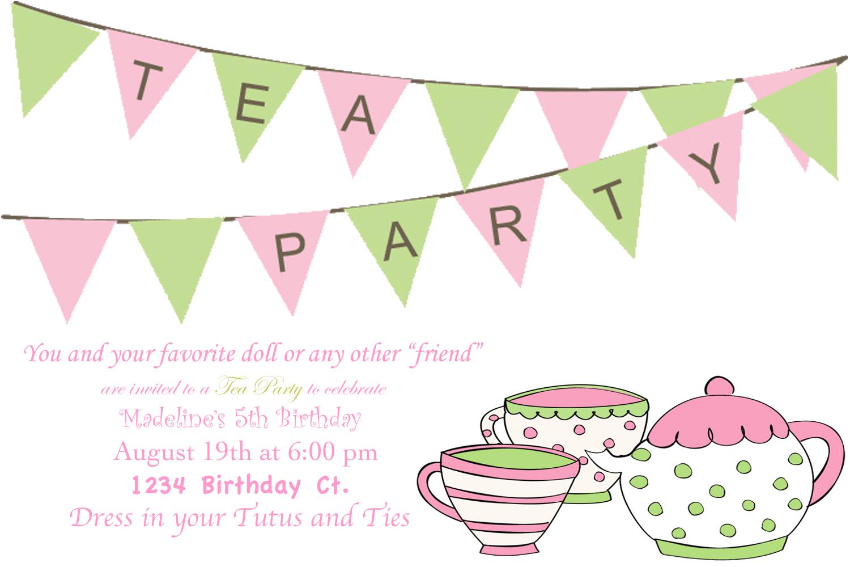Tea Party clipart cartoon Images Birthday tea party tea