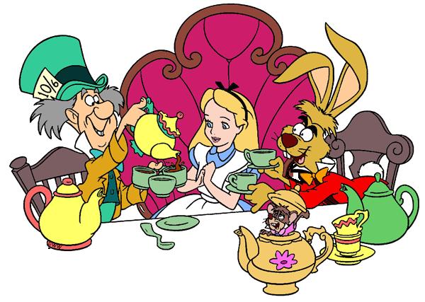 Tea Party clipart cartoon Clip Art Hare  tea