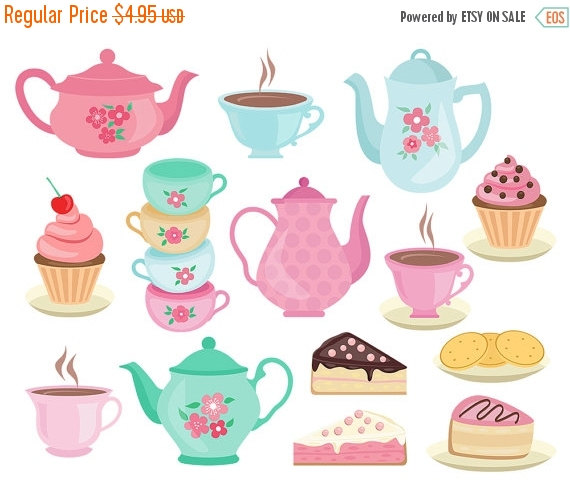 Kettle clipart tea cake Teap Afternoon party ClipArtKiwi Sale