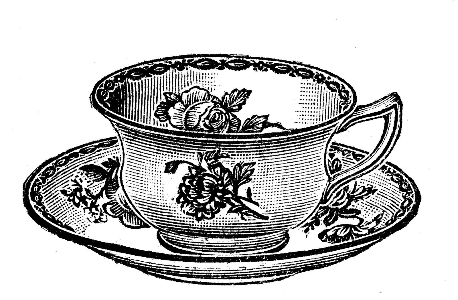 Teacup clipart cup saucer Party Vintage cup tea clip