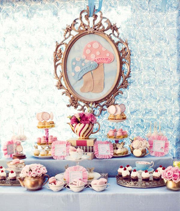 Tea Party clipart dessert table Ideas best Tea Alice Party