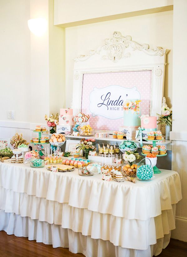 Tea Party clipart dessert table Ideas best Bridal Floral Shower