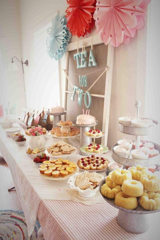 Tea Party clipart dessert table For party little for girls